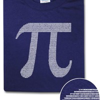 Pi By Numbers T-Shirt - Metro Blue,