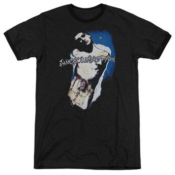 Janes Addiction Perry Black Ringer T-Shirt