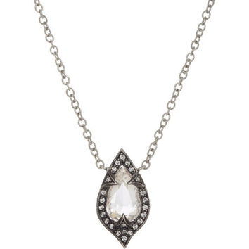 Diamond & Platinum Thorn Pendant Necklace