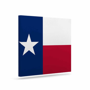 "Bruce Stanfield ""Texas Flag"" Red Blue Canvas Art"