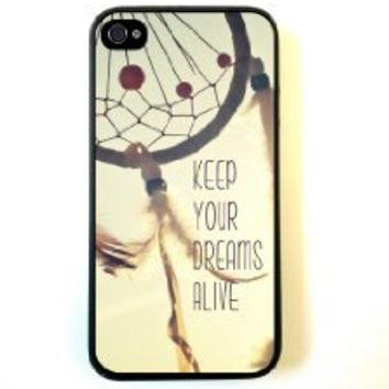 Keep Your Dreams Alive Cute Inspirational Quote Dreamcatcher Iphone 5 and 5s Case