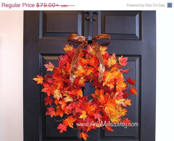 Wreaths on sale fall wreath for front from aniamelisa etsy