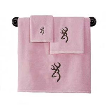 Browning Buckmark Towels - Pink
