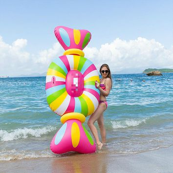 New Large Size 259*104CM Baby Adult Inflatable Candy Color Pool Swimming Float Pool Toy Swim Ring Water Fun Party Freeshipping