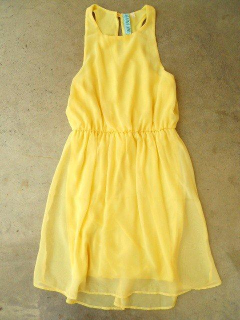 sweet yellow daffodil dress vintage from deloom my closet