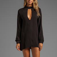 For Love & Lemons Charming Long Sleeve Dress w/ Cut-Outs in Black from REVOLVEclothing.com