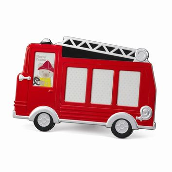 Red Fire Truck Photo Frame Holds 4 Photo