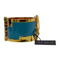 enamel hinge cuff in turquoise by cc skye