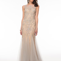 GLOW G613 Beaded Mermaid Prom Wedding Dress Mother of the Bride