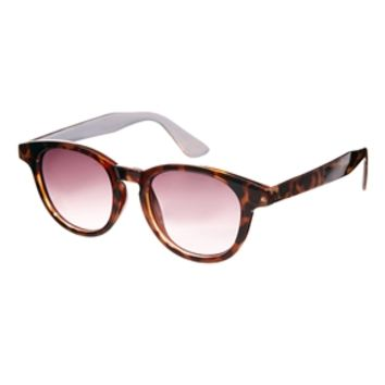 Jeepers Peepers Will Round Plastic Sunglasses - Brown