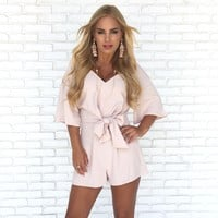 Put Together Romper In Blush