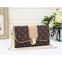 LV New fashion monogram print leather chain shoulder bag women  2#