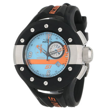Invicta 11126 Men's S1 Rally Blue Dial Black Rubber Strap Chronograph Watch