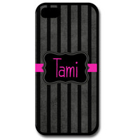 Boutique Phone Case, iPhone Case, Samsung Galaxy Case, Custom Phone Case, Monogrammed Phone Case, Stripes, Pink