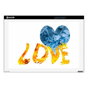 "Ice - Warming Love Skins For 17"" Laptops"