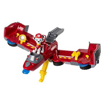 Paw Patrol dog mashall Flip Fly Vehicle toys Can Have Fun With This 2-in-1 Vehicle Transforming From Bulldozer to a Jet Kids