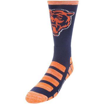 CHICAGO BEARS PATCHES QUARTER LENGTH SOCKS SIZE LARGE NEW FOR BARE FEET
