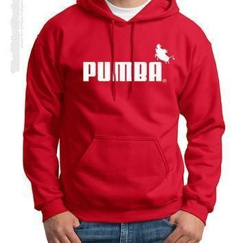 pumba puma brand company logo novelty crewneck or hoodie sweatshirt disney fan ins  number 1