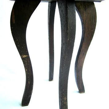 Small Wood Vintage Table Legs Old Furniture Wood Legs Round Accent Table