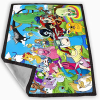 Adventure Time All Character Blanket for Kids Blanket, Fleece Blanket Cute and Awesome Blanket for your bedding, Blanket fleece *