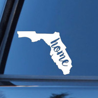 Florida Home Decal | Florida State Decal | Homestate Decals | Love Sticker | Love Decal  | Car Decal | Car Stickers | Bumper | 101