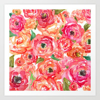 Bed of Roses Art Print by Allison Reich