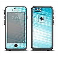 The Bright Diagonal Blue Streaks Apple iPhone 6/6s LifeProof Fre Case Skin Set