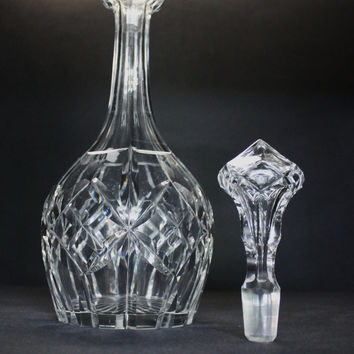 Round Hand Cut Decanter