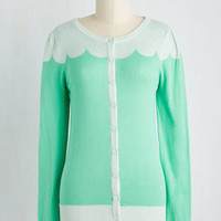 Paris Cafe Cardigan in Seafoam
