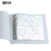 100% silver leaf edible 6x6cm  gold foil food decoration cake sushi pizza free shipping