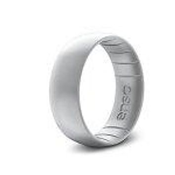 Men's Silver Silicone Ring
