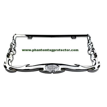 Phantom Tag Protector Front & Rear flame automobile License Plate Frame.