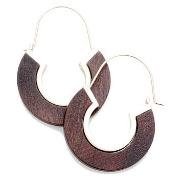 Wood and Gold Cut Out Flat Hoops