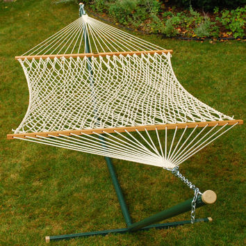 15' Double Size Cotton Rope Hammock