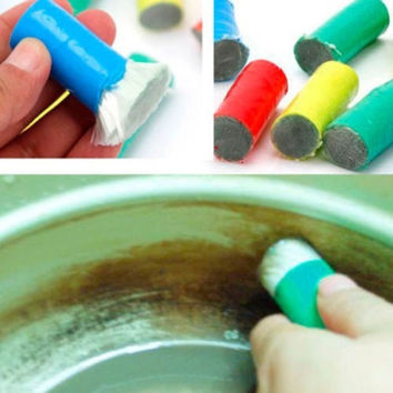 1PC Fashion Metal Stainless Steel Decontamination Stick Rust Remover Cleaning Brush Tool = 1645828036