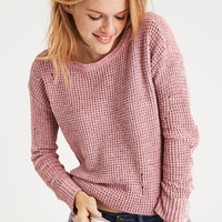 AE Chenille Destroy Sweater, Rose