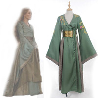 Custom Made Cersei Lannister Green Dress Costume From Game of Thrones Adult Women Vintage Medieval Renaissance Costume