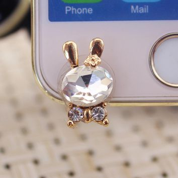 Boutique mobile phone accessories cute rabbit front 3.5mm dustproof plug ear plugs for Iphone for huawei for xiaomi