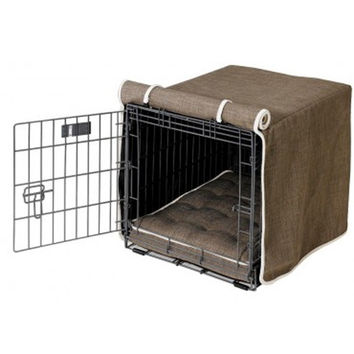 MicroLinen Luxury Dog Crate Cover — Driftwood