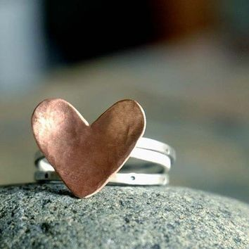 VALENTINE Stack Rings made to your size by sophiapip on Etsy