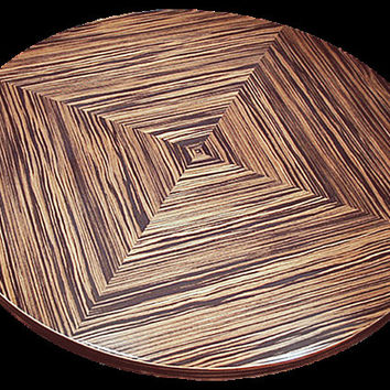 "Lazy Susan - 19"" - All Natural Wood - Handmade Server - Free Shipping!"