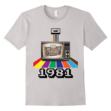 Retro Style 1981 80s t-shirt Birthday Men Women