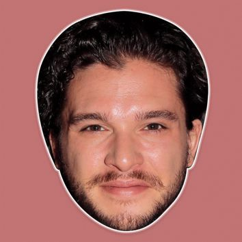 Cool Kit Harington Mask - Perfect for Halloween, Costume Party Mask, Masquerades, Parties, Festivals, Concerts - Jumbo Size Waterproof Laminated Mask