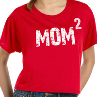 New Mom MOM 2 T-shirt womens T Shirt Flowy Tee Mothers Day Gift Baby Pregnancy shirt shower mom to be Tee