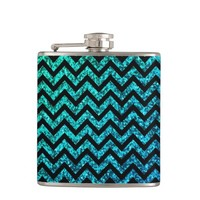Shimmer Green Chevron Flask