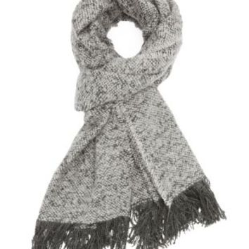 Fringed Woven Scarf by Charlotte Russe