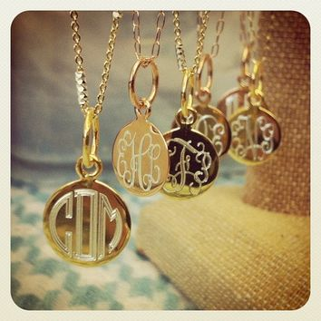 Flutter Monogram Necklace {Rose Gold or Yellow Gold}