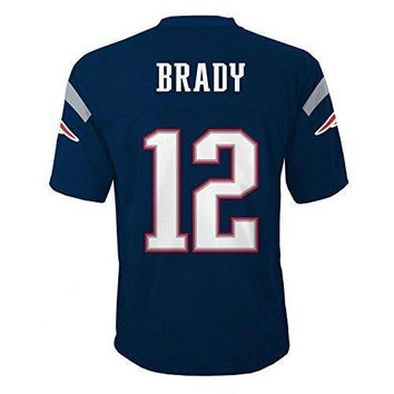 Tom Brady New England Patriots Nfl Youth Navy Home Mid Tier Jersey (size X Large 18 20)