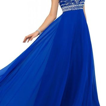 Artie Gorgeous A-line Floor Length Chiffon Prom Dresses Evening Dresses