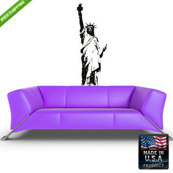 rvz149 Wall Vinyl Decal Sticker Beautiful Bedroom Kids Statue of Liberty